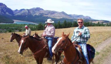 Family on Horses at Bear Creek Ranch