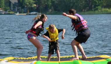 Water activities at Campfire Bay Resort.