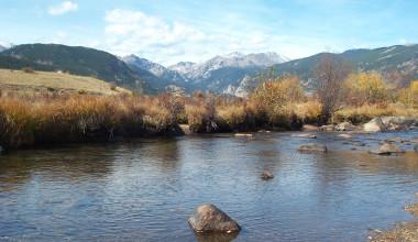 River near Misty Mountain Lodge.