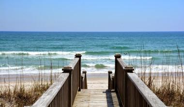 Walk way to beach at Topsail Realty.
