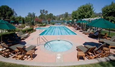 Outdoor pool at Silverado Resort.