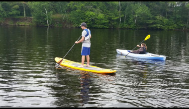 Lake activities at Spooky Bay Resort.