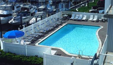 Aerial Pool View at Saybrook Point Inn