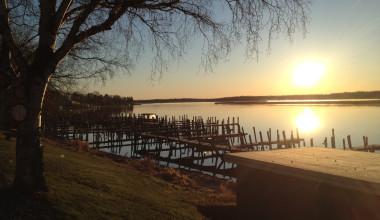 Lake view at River Bend's Resort & Walleye Inn.
