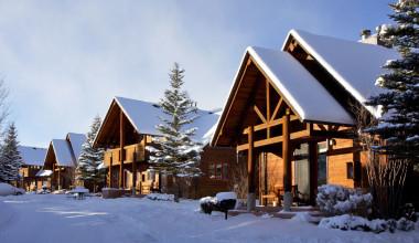 Winter time at Ram's Horn Village Resort.