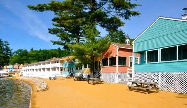 Cabin exterior at Naswa Resort.