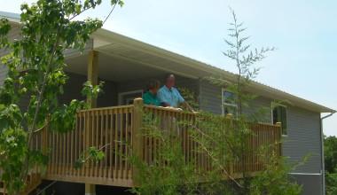 Deck view at Tribesman Resort.