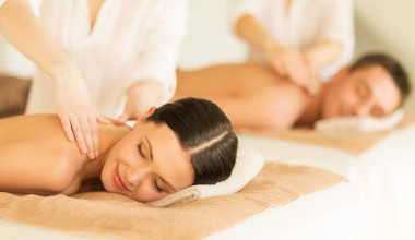 Couple's massage at Interlaken Resort & Conference Center.