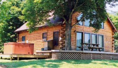 Exterior View at Harman's Luxury Log Cabins