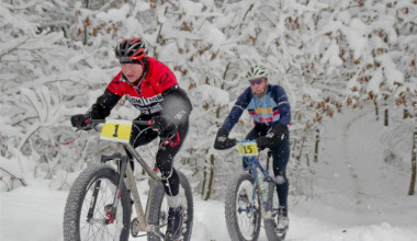 Snow biking at The Wildflower Inn.