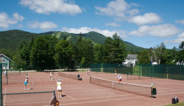 Tennis courts at Waterville Valley Resort.