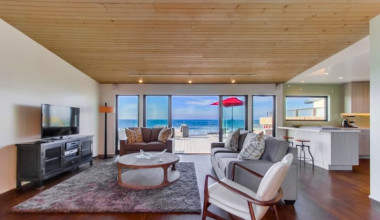 Luxurious Living Area at Bluewater Vacation Homes