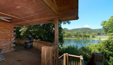 Cottage deck view at Norfork Resort & Trout Dock.