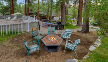 Fire pit at Tahoe Management Co.