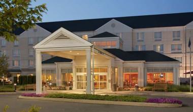 Entrance to the Hilton Garden Inn Wilkes-Barre