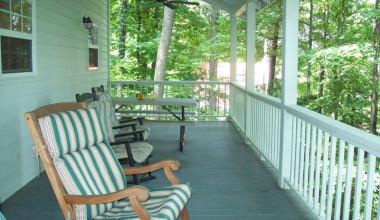 Cabin porch at Cabins at Highland Falls.