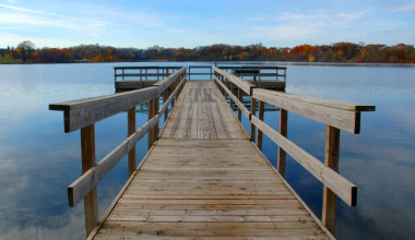 Dock at Spicer Green Lake Resort.