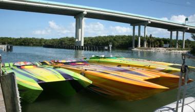Boats at Gilbert's Resort.