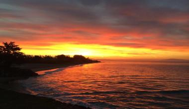 Sunset at Best Western Seacliff Inn.