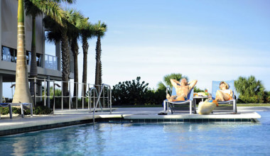 Outdoor pool at Marriott's Crystal Shores.