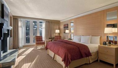 Guest room at Hilton Whistler Resort.