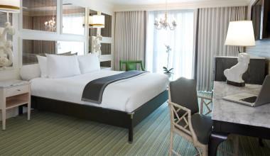 Guest room at Viceroy Santa Monica.