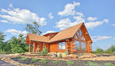 Vacation log home at American Patriot Getaways, LLC.