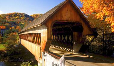 Scenic bridge near The Mountain Inn.