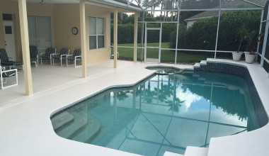 Rental pool at Leabridge Vacations.