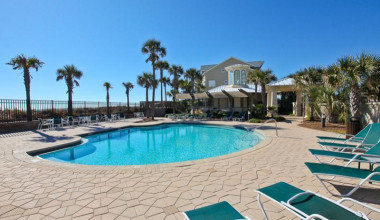 Outdoor pool at Sterling Shores.