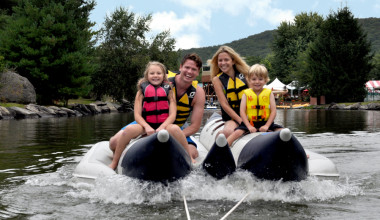 Water tubing at Rocking Horse Ranch Resort.