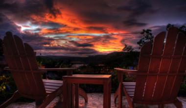 Sunset view at Stonewater Cove Resort.