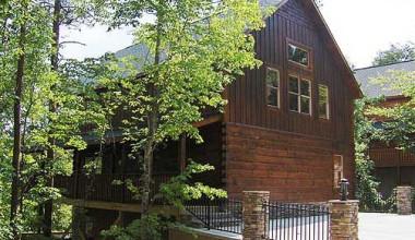 Exterior Cabin View at Baskins Creek Cabin Rentals