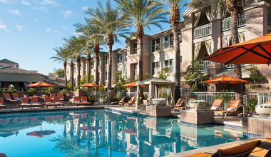 Outdoor pool at Gainey Suites.