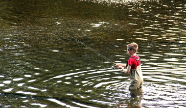 Fly fishing at River Ridge Inn.