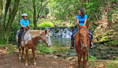 Horseback riding near The Inn at Pocono Manor.