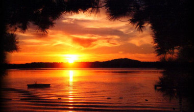 Sunset at Galles' Upper Cullen Resort.