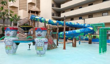 Outdoor water park at Ocean Reef Resort.
