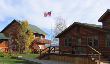 Exterior view of Teton Valley Lodge.