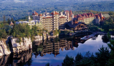 Aerial View of Mohonk Mountain House