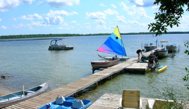 The dock at Woodlawn Resort.
