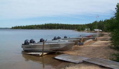 Boat landing at Tate Island Lodge.