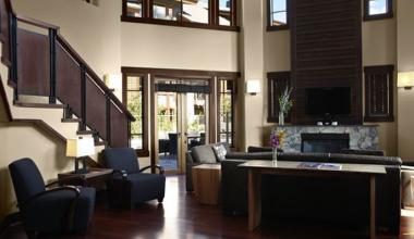 Lobby at Nita Lake Lodge.
