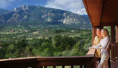 Private balcony at Cheyenne Mountain Resort.
