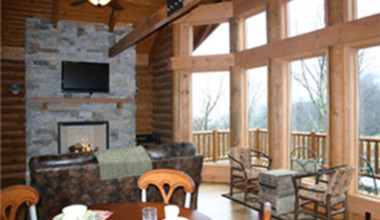 Living Room View at Wildberry Lodge