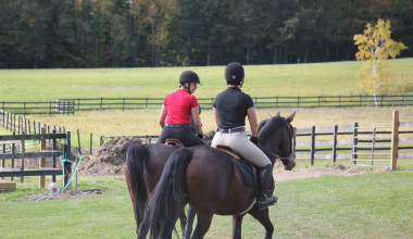 Horseback riding at B & B Ranch.