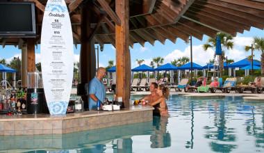 Poolside bar at North Beach Plantation.