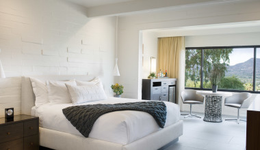 Guest room at Sanctuary on Camelback Mountain.