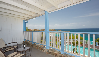 Private Balcony at Paradise Cove Resort overlooking the Ocean