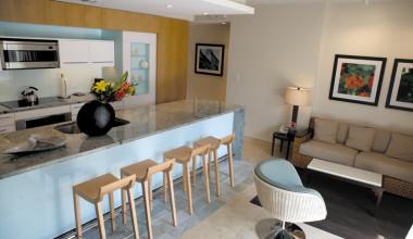 Guest suite at Santa Maria Suites Resort.